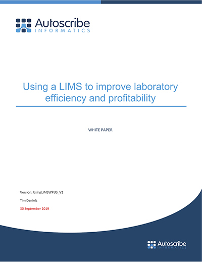 Using LIMSWPUS V1 Using a LIMS to improve laboratory efficiency and profitability US copy